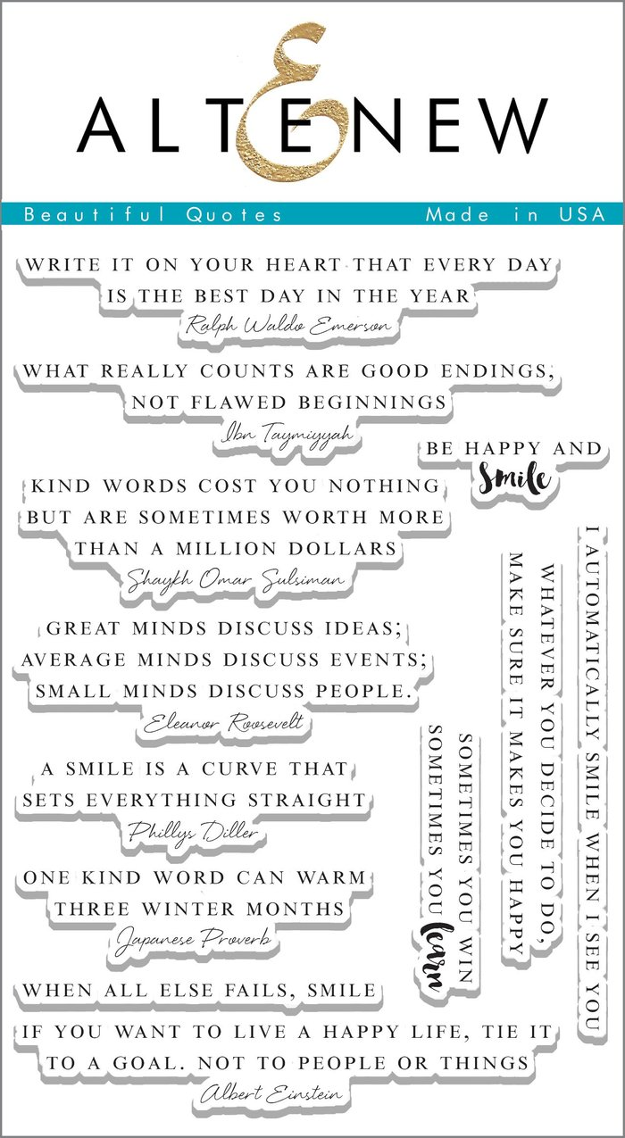 Beautiful Quotes Stamp Set