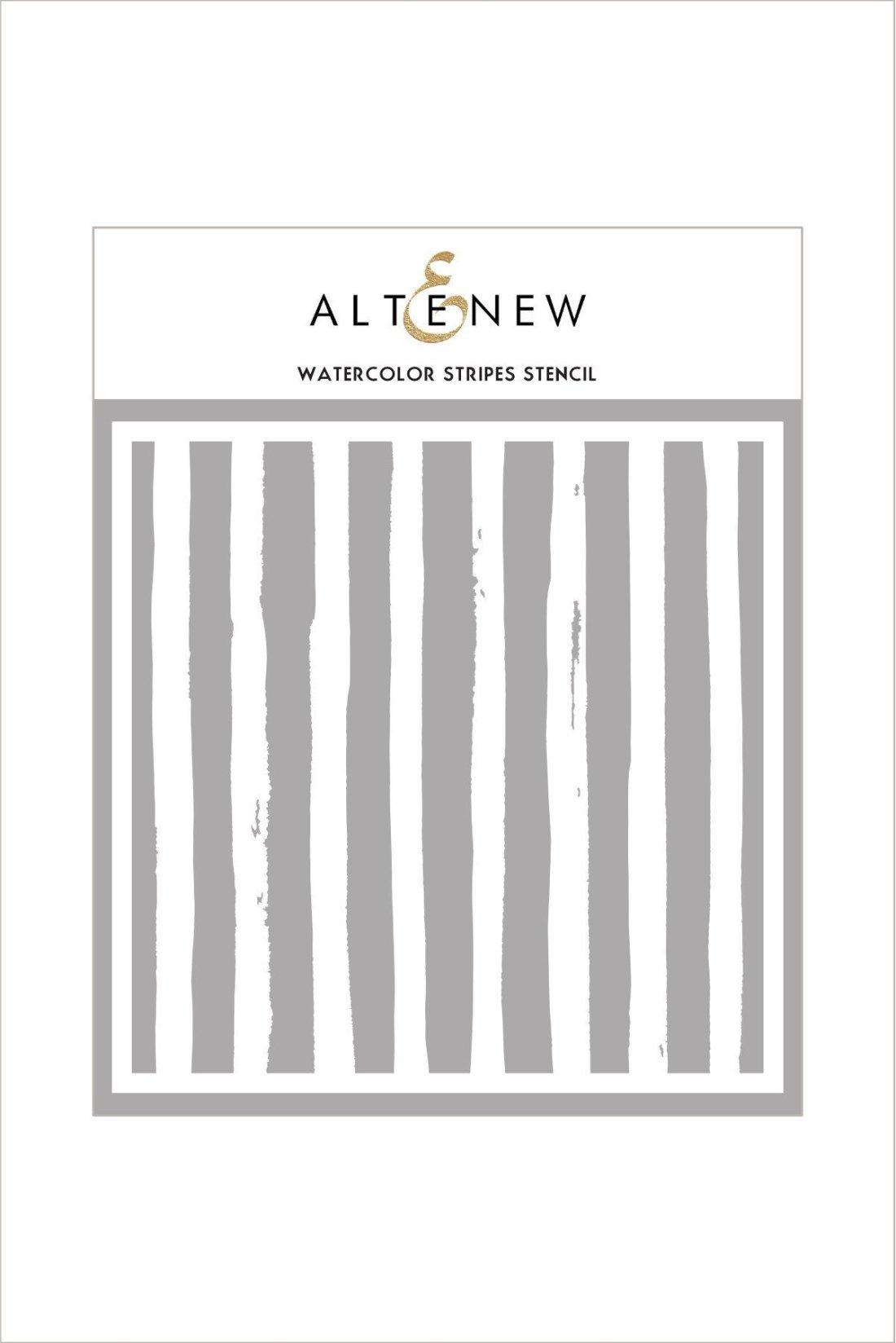 Watercolor Stripes Stencil