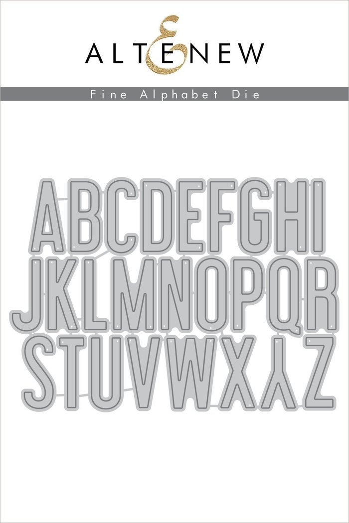 Fine Alphabet Die Set