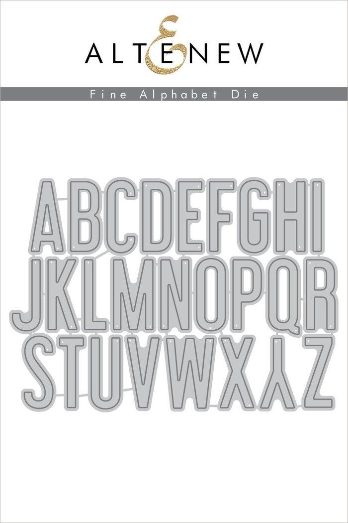 Fine Alphabet Die Set